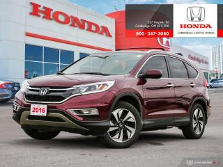 Used 2016 Honda CR-V Touring HEATED SEATS | GPS NAVIGATION | REARVIEW CAMERA WITH DYNAMIC GUIDELINES for sale in Cambridge, ON