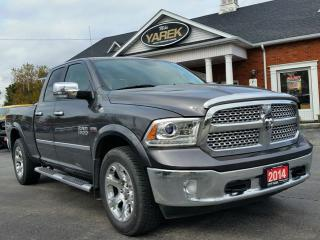 Used 2014 RAM 1500 Laramie 4x4, Leather Heated/Vented Seats, Back Up Cam, Bluetooth, Satellite Radio for sale in Paris, ON