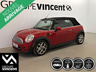 Used 2013 MINI Cooper CONVERTIBLE ** GARANTIE 10 ANS ** Convertible à bas kilométrage! for sale in Shawinigan, QC
