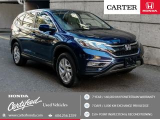 Used 2016 Honda CR-V EX + CERTIFIED + 7 YEAR/160000KM for sale in Vancouver, BC