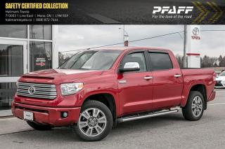 Used 2015 Toyota Tundra 4x4 CrewMax Platinum 5.7 6A for sale in Orangeville, ON