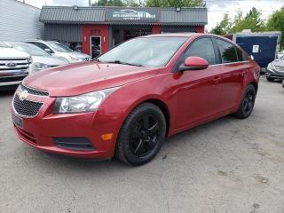 Used 2012 Chevrolet Cruze 2012 CHEVROLET CRUZE LT**FINANCEMENT 100 for sale in Lemoyne, QC