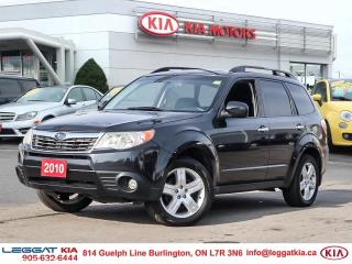 Used 2010 Subaru Forester AWD, PANORAMICROOF, HEATED LEATHER, SATXM, HEATED MIRRORS, for sale in Burlington, ON