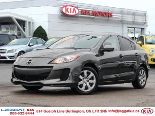 Used 2013 Mazda MAZDA3 GX AIR CONDITIONING, HEATED MIRRORS, POWER WINDOWS, POWER LOCKS for sale in Burlington, ON