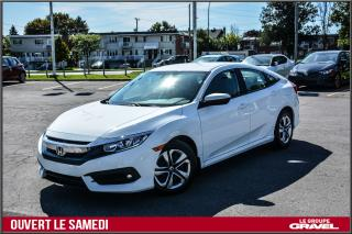 Used 2016 Honda Civic LX - SIEGES CHAUF - CAM RECUL - BAS KM for sale in St-Léonard, QC