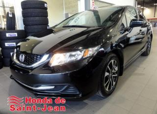 Used 2015 Honda Civic EX 4 portes,  Automatique Toit Camera Ma for sale in St-Jean-Sur-Richelieu, QC