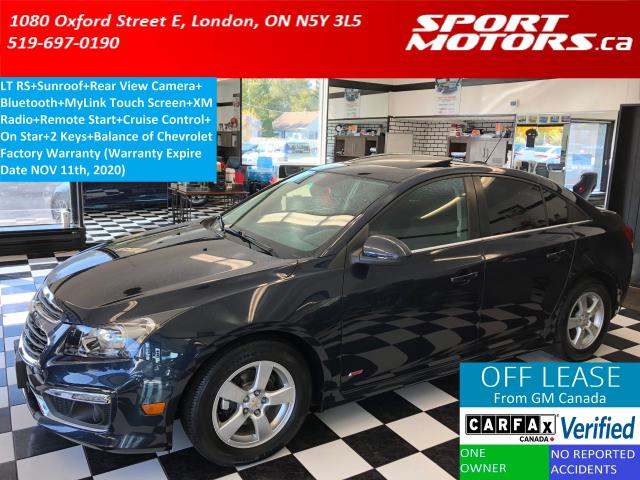 2015 Chevrolet Cruze LT RS+Sunroof+Camera+Remote Start+Bluetooth+A/C
