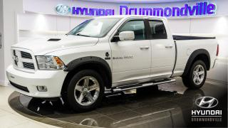 Used 2012 RAM 1500 SPORT + GARANTIE + TOIT + CAMERA + WOW ! for sale in Drummondville, QC