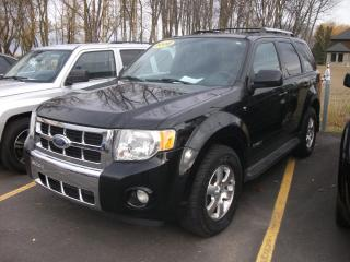Used 2008 Ford Escape 4 portes, 4 roues motrices V6 Limited for sale in St-Sulpice, QC