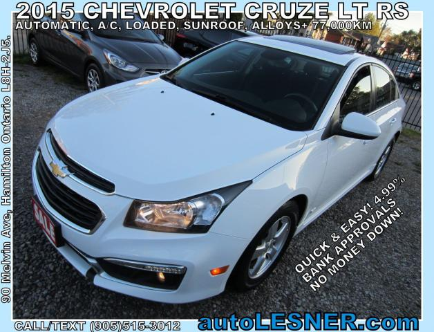2015 Chevrolet Cruze -ZERO DOWN, $217 for 60 months FINANCE TO OWN!