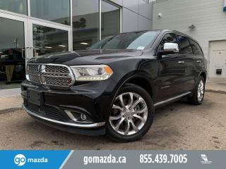 Used 2016 Dodge Durango CITADEL HEMI LEATHER ROOF NAVI FLAWLESS SHAPE for sale in Edmonton, AB