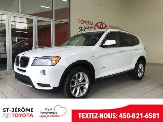 Used 2013 BMW X3 * DRIVE * TOIT PANO * GPS * CUIR * CAMÉRA * for sale in Mirabel, QC