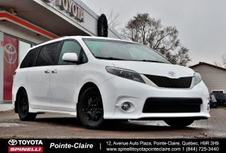 Used 2015 Toyota Sienna SE 8 PASSAGER CUIR, MAGS, INTÉRIEUR NOIR for sale in Pointe-Claire, QC