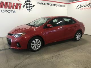 Used 2014 Toyota Corolla 4dr Sdn CVT S, BAS KM for sale in St-Hubert, QC