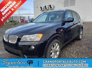 Used 2012 BMW X3 XDRIVE 28i  traction intégrale for sale in Rivière-Du-Loup, QC