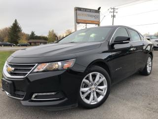 Used 2019 Chevrolet Impala 1LT Well equipped with BackupCam, AutoStart, Bluetooth, Pwr Seats, Leather Trimmed cloth Buckets and Pwr for sale in Kemptville, ON