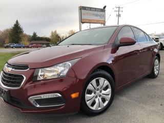 Used 2016 Chevrolet Cruze Limited 1LT Auto, Air, Cruise with Sunroof! BackupCam! AutoStart! And Bluetooth! Also equipments with Pwr Window for sale in Kemptville, ON