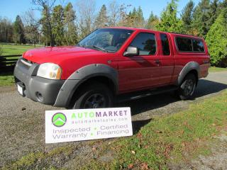 Used 2002 Nissan Frontier SE-V6, 2WD, CANOPY, INSP, BCAA MBSHP, WARR, FINANCING! for sale in Langley, BC