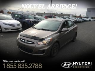 Used 2014 Hyundai Accent GL + A/C + GARANTIE + CRUISE + WOW !! for sale in Drummondville, QC