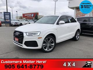 Used 2017 Audi Q3 2.0T quattro Technik  AWD TECHNIK LEATH NAV for sale in St. Catharines, ON