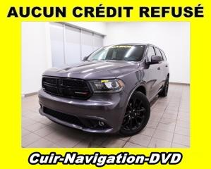 Used 2017 Dodge Durango R/T AWD DVD SIÈGES VENTILÉS CUIR *NAVIGATION* for sale in St-Jérôme, QC
