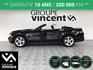 Used 2012 Ford Mustang GT 5.0L CONVERTIBLE ** GARANTIE 10 ANS** Beaucoup de puissance! for sale in Shawinigan, QC