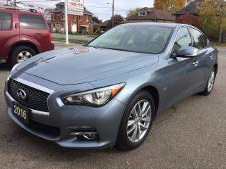 Used 2016 Infiniti Q50 2.0t/AWD/360 CAMERA/NAV for sale in Guelph, ON