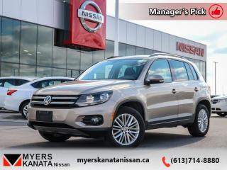 Used 2015 Volkswagen Tiguan TRENDLINE  - Keyless Start - $130 B/W for sale in Kanata, ON