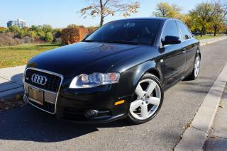 Used 2007 Audi A4 S-LINE / 6 SPEED MANUAL / NO ACCIDENTS / STUNNING for sale in Etobicoke, ON