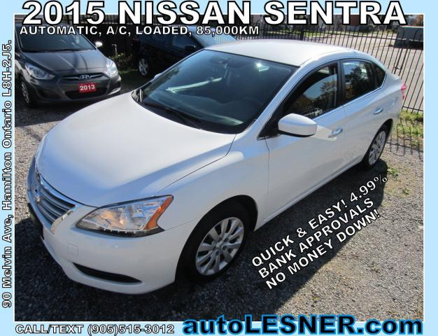 2015 Nissan Sentra -ZERO DOWN, $188 for 60 months FINANCE TO OWN!