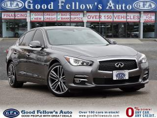 Used 2015 Infiniti Q50 3.7L 6CYL, AWD, REARVIEW CAMERA, HEATED SEATS, NAV for sale in Toronto, ON