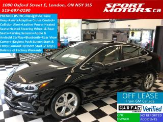 Used 2017 Chevrolet Cruze Premier+GPS+Apple Play+Lane Assist+Collision Alert for sale in London, ON