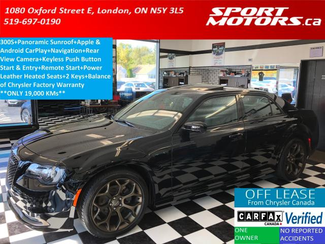 2018 Chrysler 300 300S+Pano Roof+Apple Play+GPS+Camera+Remote Start