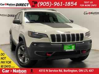 Used 2019 Jeep Cherokee Trailhawk| 4X4| LEATHER| POWER DRIVERS SEAT| for sale in Burlington, ON