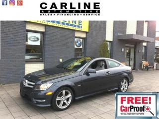 Used 2012 Mercedes-Benz C-Class 2dr Cpe 1.8L RWD for sale in Nobleton, ON