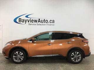 Used 2016 Nissan Murano SL - AWD! HTD LEATHER! NAV! PANOROOF! PWR LIFTGATE! + MORE! for sale in Belleville, ON