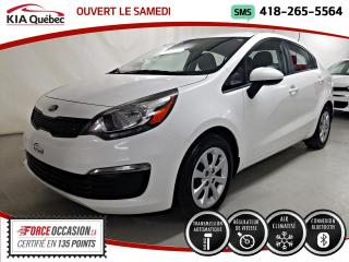 Used 2016 Kia Rio LX+* AT* A/C* GROUPE ELECTRIQUE* for sale in Québec, QC