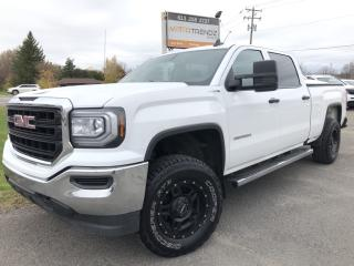 Used 2016 GMC Sierra 1500 Crew 4x4 with 5.3L! BackupCam, Bluetooth, integrated Trailer Brake and Pwr Windows, Cruise! for sale in Kemptville, ON