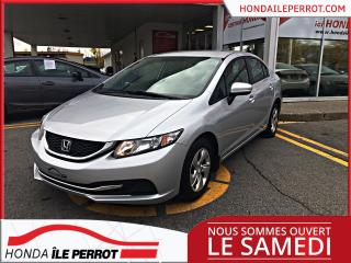 Used 2015 Honda Civic LX , UN SEUL PROPRIETAIRE , JAMAIS ACCID for sale in Île-Perrot, QC