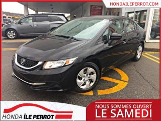 Used 2015 Honda Civic LX , JAMAIS ACCIDENTÉ for sale in Île-Perrot, QC