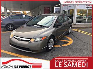 Used 2008 Honda Civic DX, jamais accidenté , idéale pour étudi for sale in Île-Perrot, QC