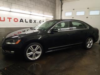 Used 2014 Volkswagen Passat TDI Highline NAVI CAMERA CUIR / SUEDE FENDER MAGS for sale in St-Eustache, QC
