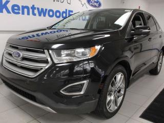 Used 2016 Ford Edge Titanium AWD with NAV, sunroof, heated/cooled power leather seats, heated steering wheel, heated rear seats, power liftgate, power 3rd row seats and a back up cam for sale in Edmonton, AB