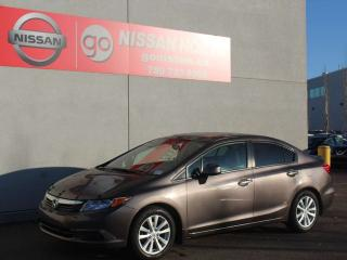 Used 2012 Honda Civic Sdn EX/5 SPEED/ONE OWNER for sale in Edmonton, AB