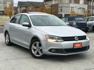 Used 2013 Volkswagen Jetta Diesel|TDI|Sunroof|Accident free|Bluetooth|Alloy W for sale in Burlington, ON