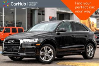 Used 2016 Audi Q3 Progressiv|Bluetooth|SiriusXM|PanoSunroof|HeatFrntSeats|DualClimate for sale in Thornhill, ON