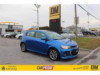 Used 2018 Chevrolet Sonic LT RS TOIT CAMERA APPLE/ANDROID SIÈGES CHAUFFANTS for sale in Salaberry-de-Valleyfield, QC