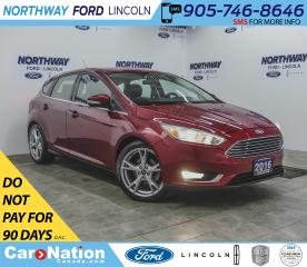 Used 2016 Ford Focus Titanium | NAV | LEATHER | SUNROOF | PUSH START | for sale in Brantford, ON