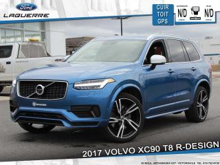 Used 2017 Volvo XC90 XC90 T8 R-DESIGN**AWD*CUIR*TOIT*GPS*CAMERA*FULL !! for sale in Victoriaville, QC