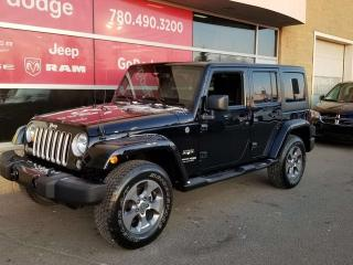 Used 2018 Jeep Wrangler JK Unlimited Sahara / GPS Navigation for sale in Edmonton, AB